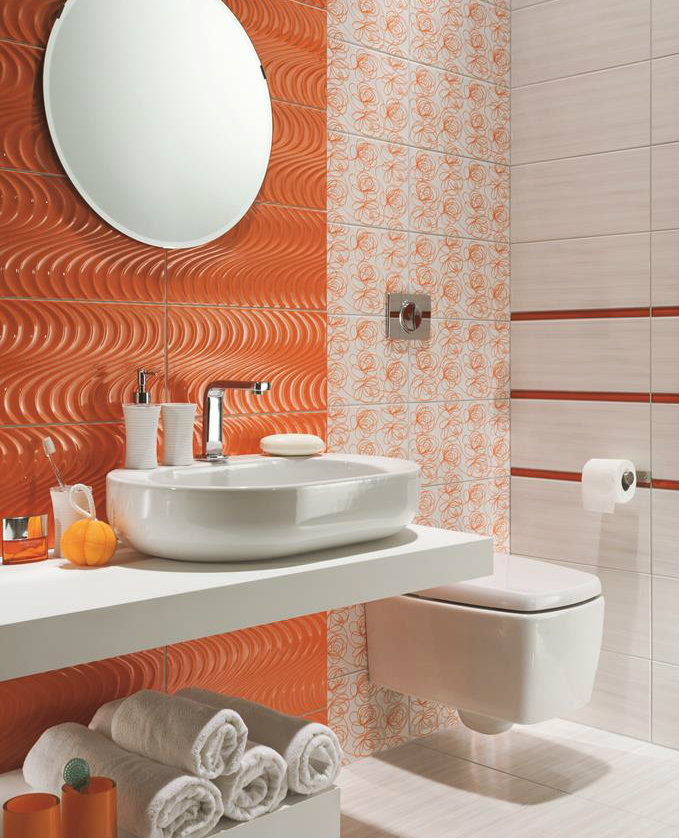 Декор Tubadzin Wave modern orange 22,3x44,8