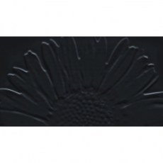 Настенная плитка декор Tubadzin Colour WHITE&BLACK SUNFLOWER BLACK